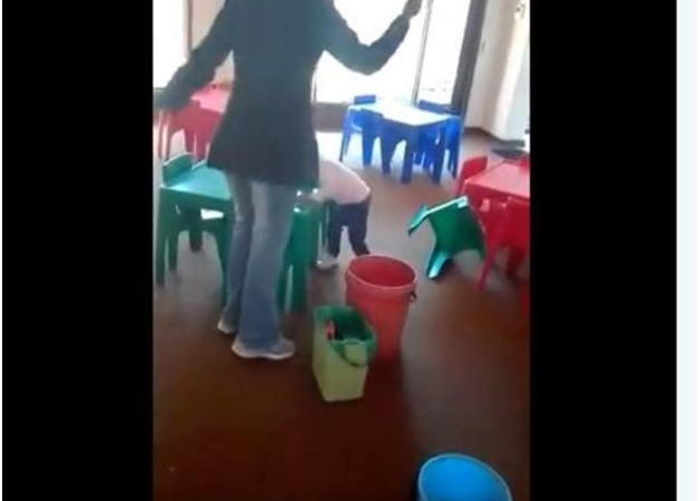 Footage of woman 'beating nursery children' goes viral in South Africa-devil of a woman to face music